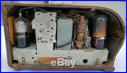 1938 EMERSON Ingraham ART DECO Vintage AX-212 BULLSEYE Wood Antique Tube Radio