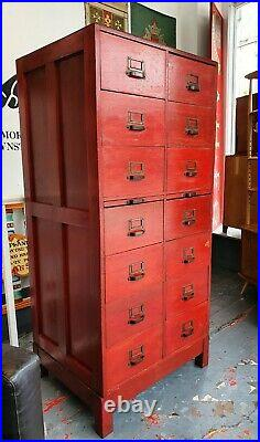 1950's Papworth Industries Post Office Bank of Drawers. Vintage/Chest/Industrial
