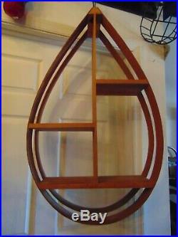 36 MCM Danish modern Bentwood Tear Drop shaped hanging shelf plants art vintage