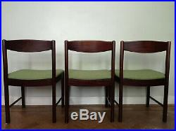 3 Vintage Retro Mid-Century A H McIntosh Dining Chairs Danish Rosewood style 60s