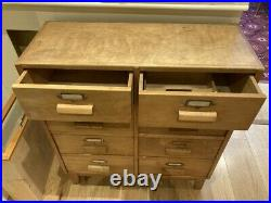 50s 60's Drapers Haberdashery chest of drawers cabinet vintage painting workshop