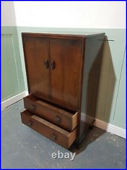 ANTIQUE ART DECO OAK TALL BOY ART MODERNE CHEST OF DRAWERS c1925-39 VINTAGE CHES