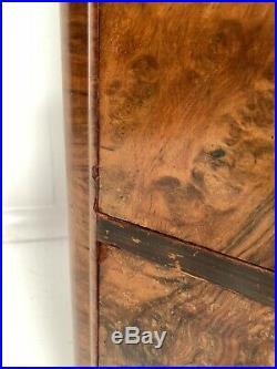 ART DECO VINTAGE ANTIQUE WALNUT GENTS FITTED COMPACTUM WARDROBE DRAWERS c1940
