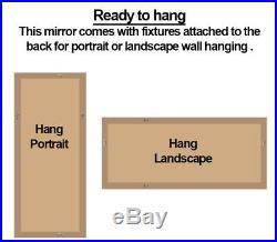 Abbey Distressed Vinatge Grey Large Wall Leaner Mirror 65 x 31 / 165cm x 79cm