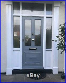Amazing Large Antique Vintage Solid Wood Victorian edwardian glazed front door