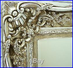 Amore Ornate Shabby Chic Vintage Large Wall Mirror Champagne Silver 47 x 35