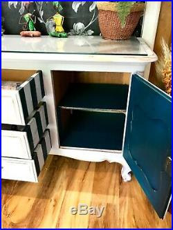 Annie Sloan Chicago Grey Vintage French Sideboard Buffet Drinks cabinet TV unit