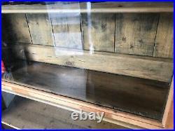 Antique Glass Fronted Sliding Door Library Fitting Shop Cabinet Vintage Storage