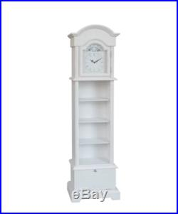 Antique Grandmother Clock Shabby Chic Grandfather Vintage Floor Long Tall Case