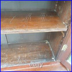 Antique Kitchen Larder Cupboard Mahogany Dresser display cabinet glass Bookcase