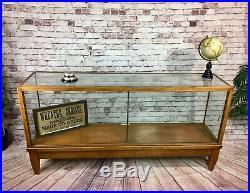 Antique Large Glass Shop Display Cabinet Haberdashery Counter Vintage Interior