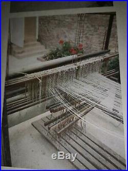 Antique Rare HUGUENOT Fine Weaving Vintage Large Wood Floor Loom Very Old