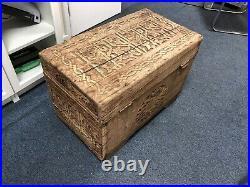 Antique Turkish Chest, Old Trunk, Vintage Wooden Box