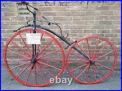 Antique Vintage Bicycle Original Boneshaker 1869 Pre-Penny Farthing Ordinary