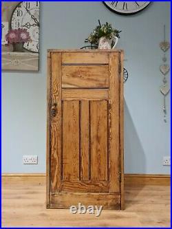Antique Vintage Cupboard Linen Larder Housekeepers Storage Cabinet Oak or Pine