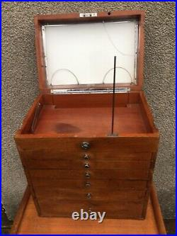 Antique Vintage Dentists Medical Cabinet Collectors Drawers S. S. White Co London