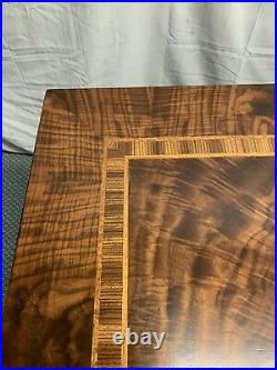 Antique Vintage Wood Folding Card Table WOW