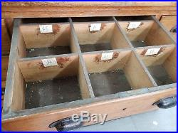 Antique Vintage chest of draws approx 7ft in length and 2ft in width
