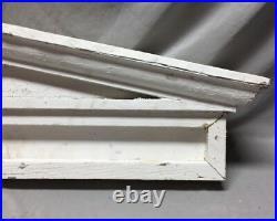 Antique Window Header Pediment Greek Wood and Metal Shabby Vintage Chic 25-19M