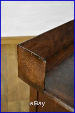 Antique vintage large Oak pedestal writing desk