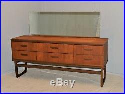 Chest Of Drawers Dressing Table Mid Century Teak Veneer Vintage Retro