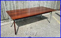 DANISH FINN JUHL FRANCE & SONS TABLE DESK ROSEWOOD CHROME RETRO VINTAGE 60s 70s