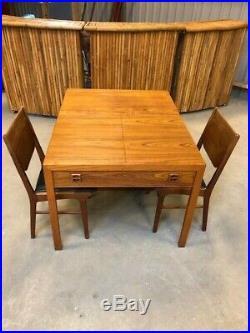 DANISH VINTAGE TEAK MID CENTURY MODERN METAMORPHIC TABLE/DESK SIDEBOARD 1960, s