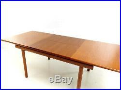 Danish Design Teak Extending Dining Table Mid Century Vintage, 1970s