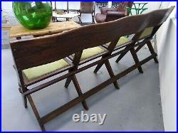Edwardian Theatre seats, Antique bench, Vintage, decorative, Interiors, Retro