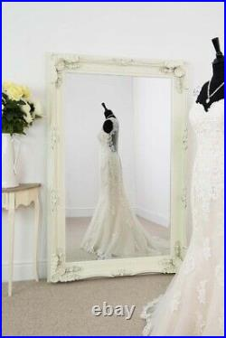Extra Large Wall Mirror Cream Antique Vintage Full Length 4Ft1x6Ft1 1235x185cm