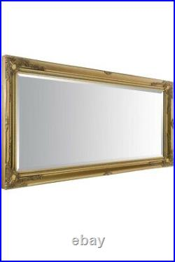 Extra Large Wall Mirror Gold Antique Vintage Full Length 5Ft7x2Ft7 170cm X 79cm