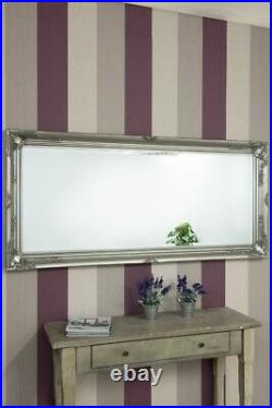 Extra Large Wall Mirror Silver Antique Vintage Full Length 5Ft7x2Ft7 170 x 79cm