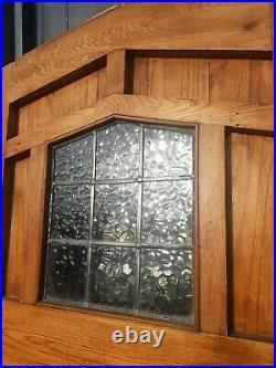 Fabulous reclaimed Solid oak wood front door window glazed vintage country style