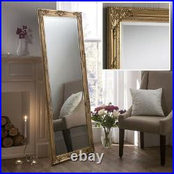 Florence Full Length Vintage Gold Shabby Chic Leaner Wall Floor Mirror 64x28