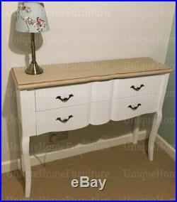 French Console Table Shabby Chic Sideboard Antique Style Drawers Vintage Storage
