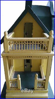 Gottschalk Antique Gabled Dollhouse with fold down Garden