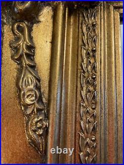 Huge Vintage Antique Style Ornate Gold Gilt mirror. Hairdresser Or Restaurant