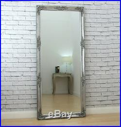 Isabella Full Length Antique Silver Shabby Chic Leaner Wall Floor Mirror 64x28