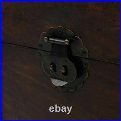Large Antique Trunk Treasure Chest Wooden Steamer Storage Box Case Brown Vintage