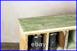 Large Vintage Industrial Pine Boot Hole Unit / Pigeon Hole Unit