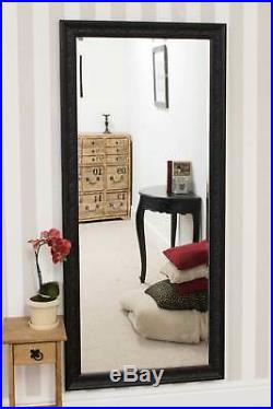 Large Wall Mirror Vintage Design Full Length Black 5ft3 x 2ft5 163cm x 73cm