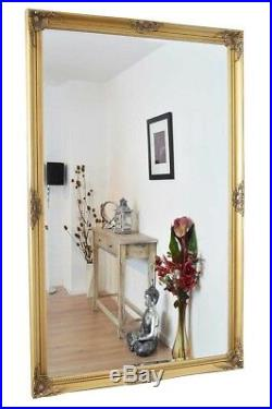 Large Wall Mirror X Gold Vintage Bevelled 5Ft6 X 3Ft6 168cm X 107cm