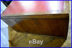 Large antique vintage industrial oak writing desk