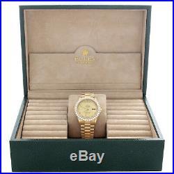 Mens 36mm Rolex President 18K Gold Day-Date Diamond Watch Ref. # 18038 3.50 CT