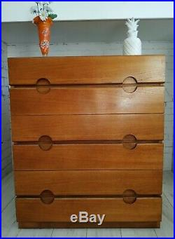 Meridew Vintage Chest of Drawers Retro Mid Century Storage Teak Bedroom Drawer