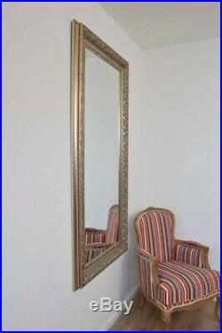 New Large Silver Decorative Vintage Chic Wall Mirror 5Ft3 X 2Ft5 160cm X 74cm