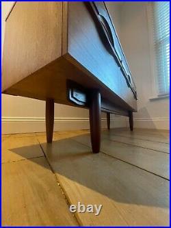 Original vintage Retro Mid Century Teak Dressing Table with Drawers and Mirror