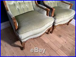 Pair Of Vintage Louis Style XVI Armchairs Upholstery Project