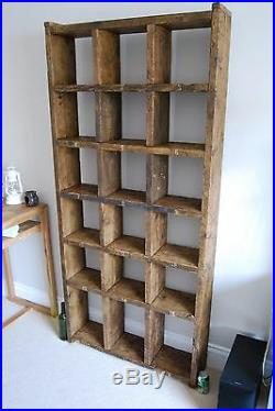 Pigeon holes industrial rustic bookcase wood vintage library shelves gplanera