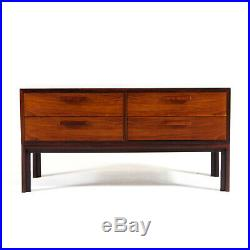 Retro Vintage Danish Rosewood Low Chest of Drawers TV Stand Scandinavian 60s 70s